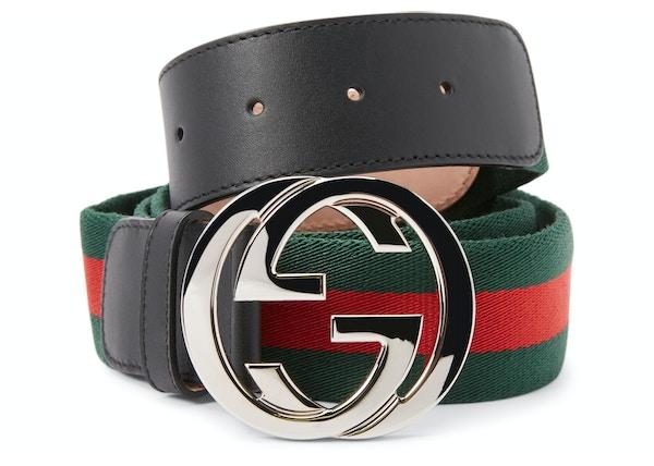 dc3e27b23 Gucci Interlocking G Pure Web Belt Green/Red/Black