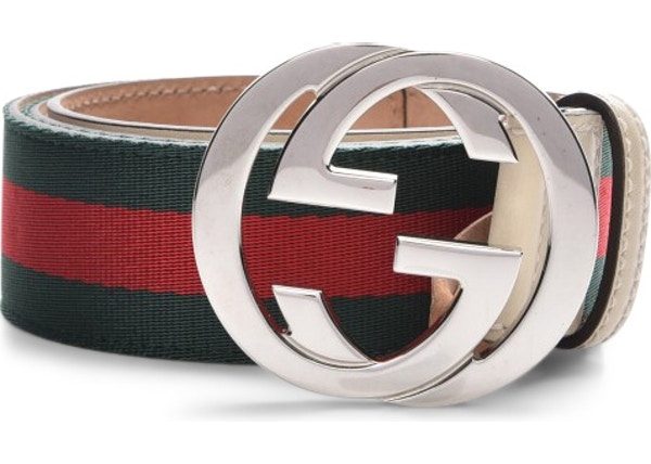 62fc855d2 Gucci Interlocking G Belt Web Green/Red