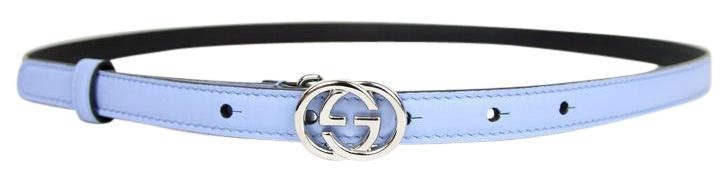 Gucci Interlocking G Buckle Belt Skinny 85-34 Blue