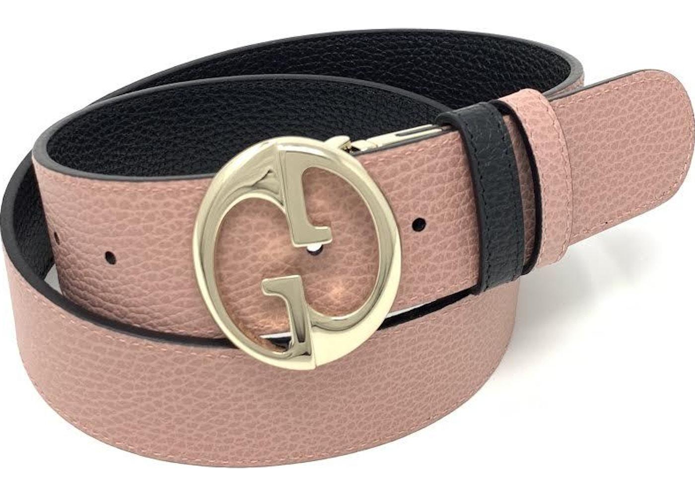 bca82a87a8e Gucci Interlocking G Reversible Belt 1.55W Black Pink. 1.55W Black Pink