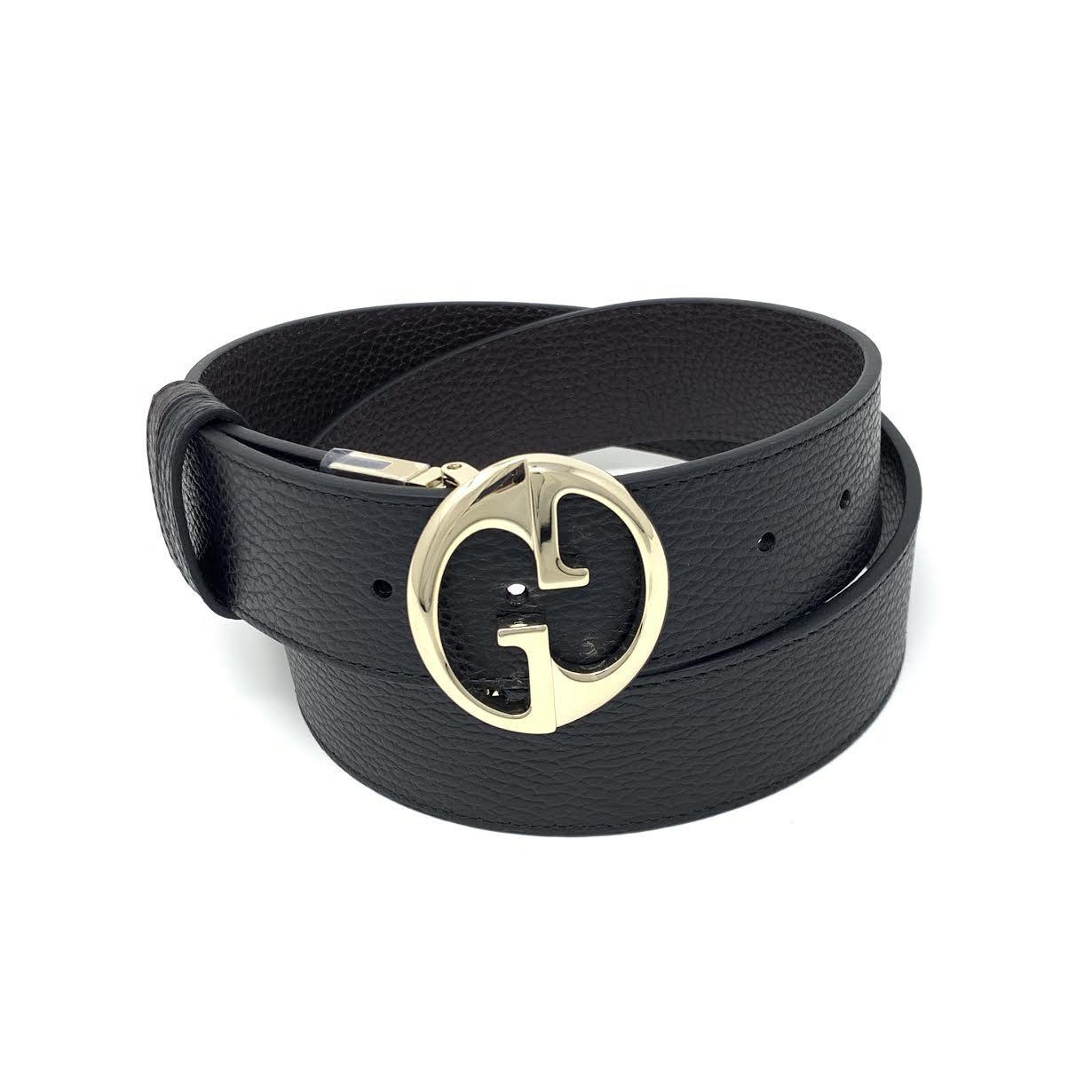 Gucci Interlocking G Reversible Belt 1.5W Black/Brown