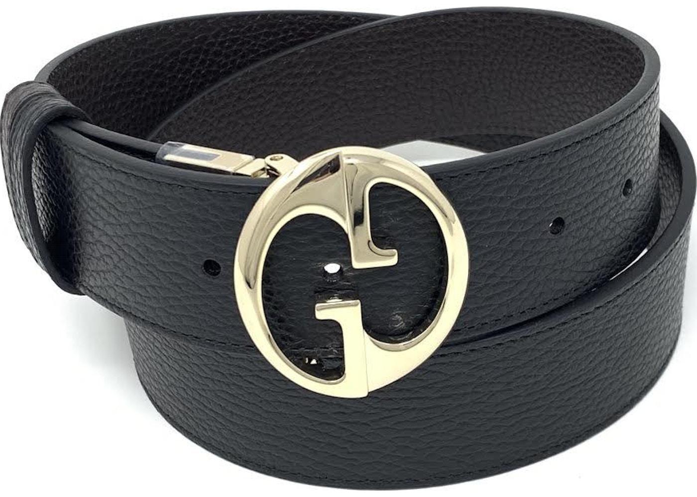 1e48a686e10 Gucci Interlocking G Reversible Belt 1.5W Black Brown. 1.5W Black Brown