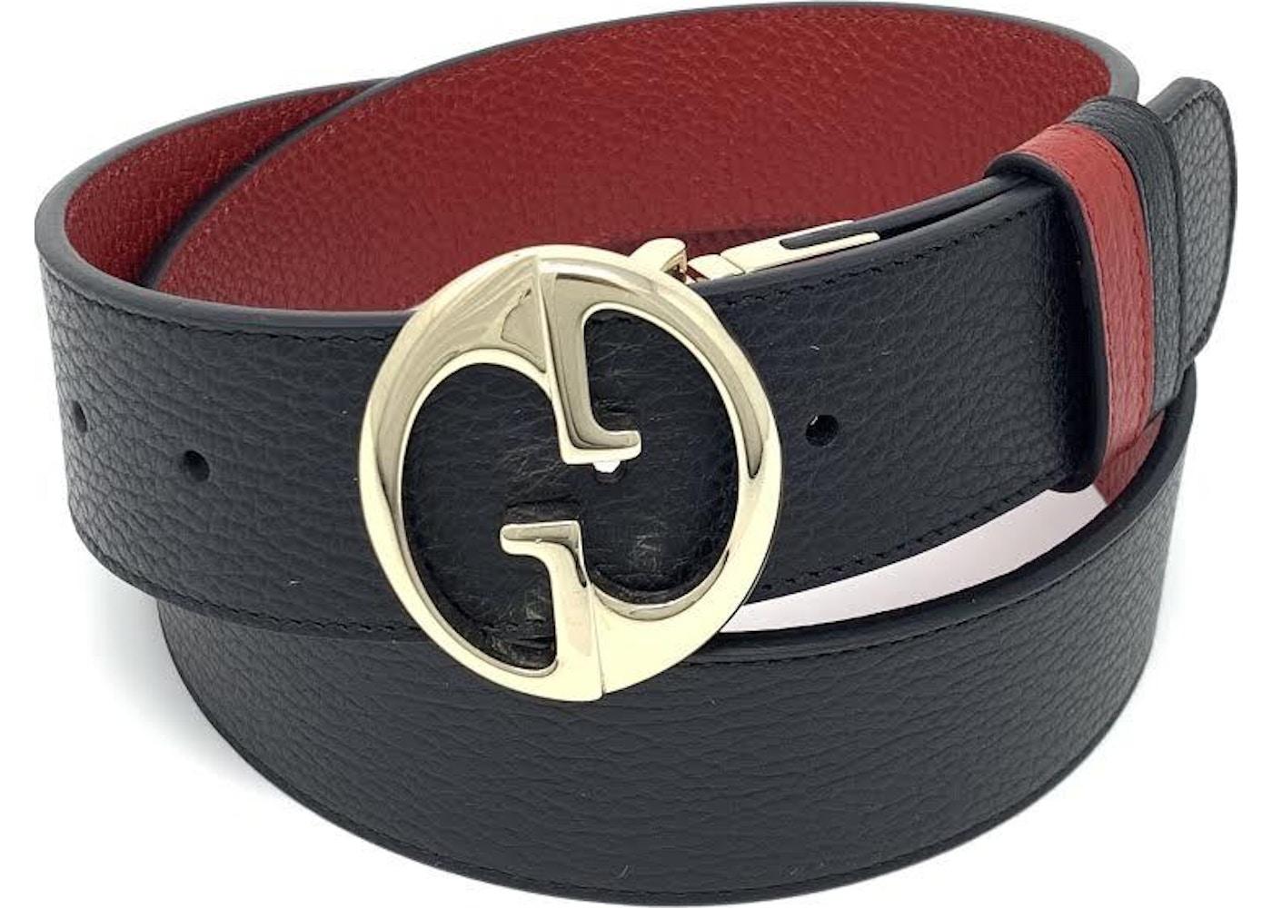 60e22b14111 Gucci Interlocking G Reversible Belt 1.75W Black Red. 1.75W Black Red