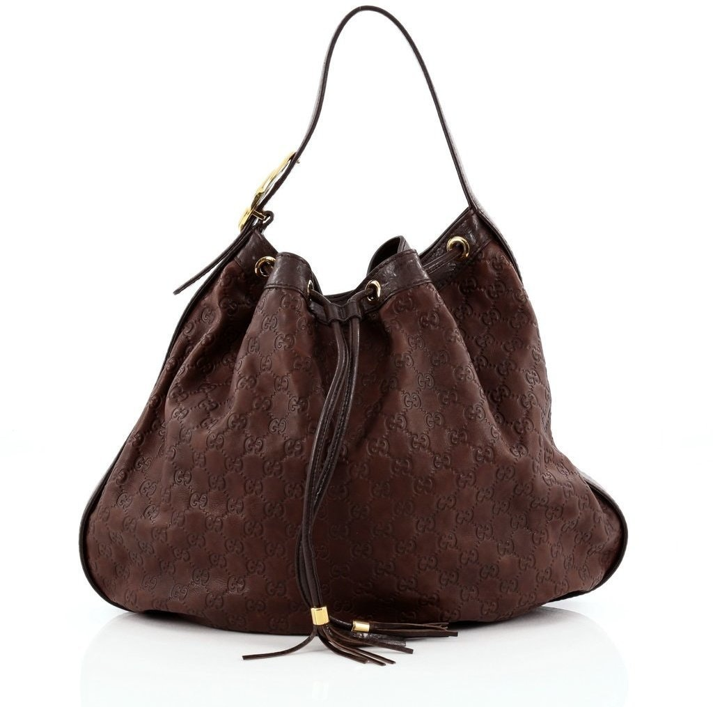 Gucci Interlocking Hobo Guccissima Large Brown