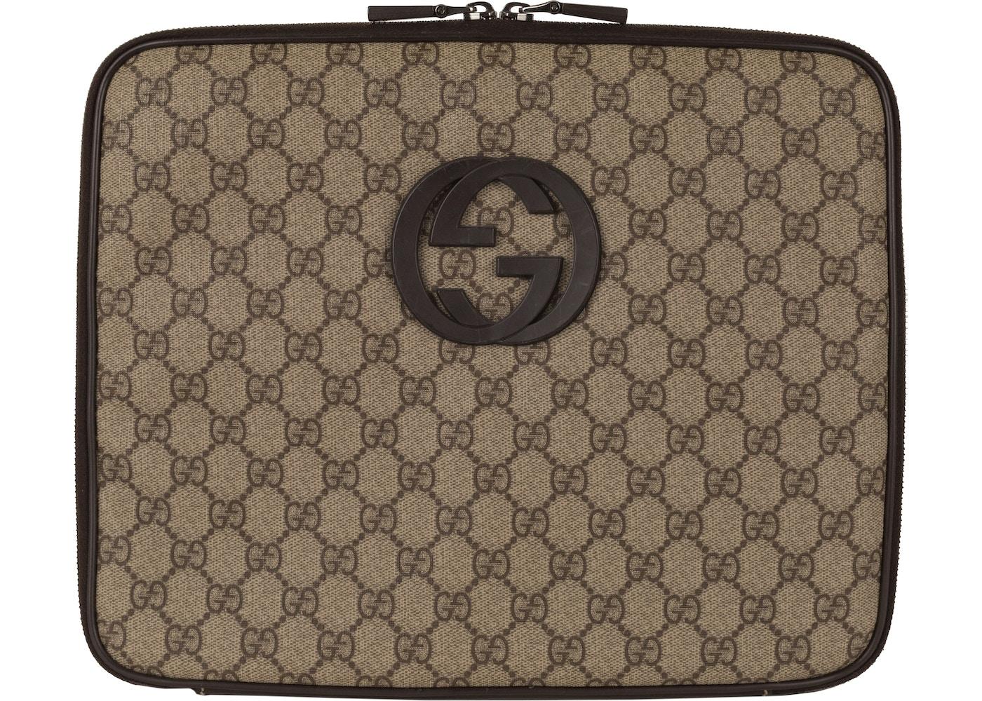 2fd04597f Gucci Laptop Case GG Supreme Brown. GG Supreme Brown