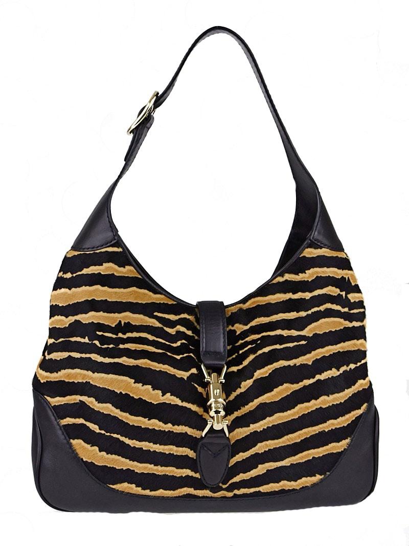 Gucci Jackie Hobo Tiger Medium Black/Brown