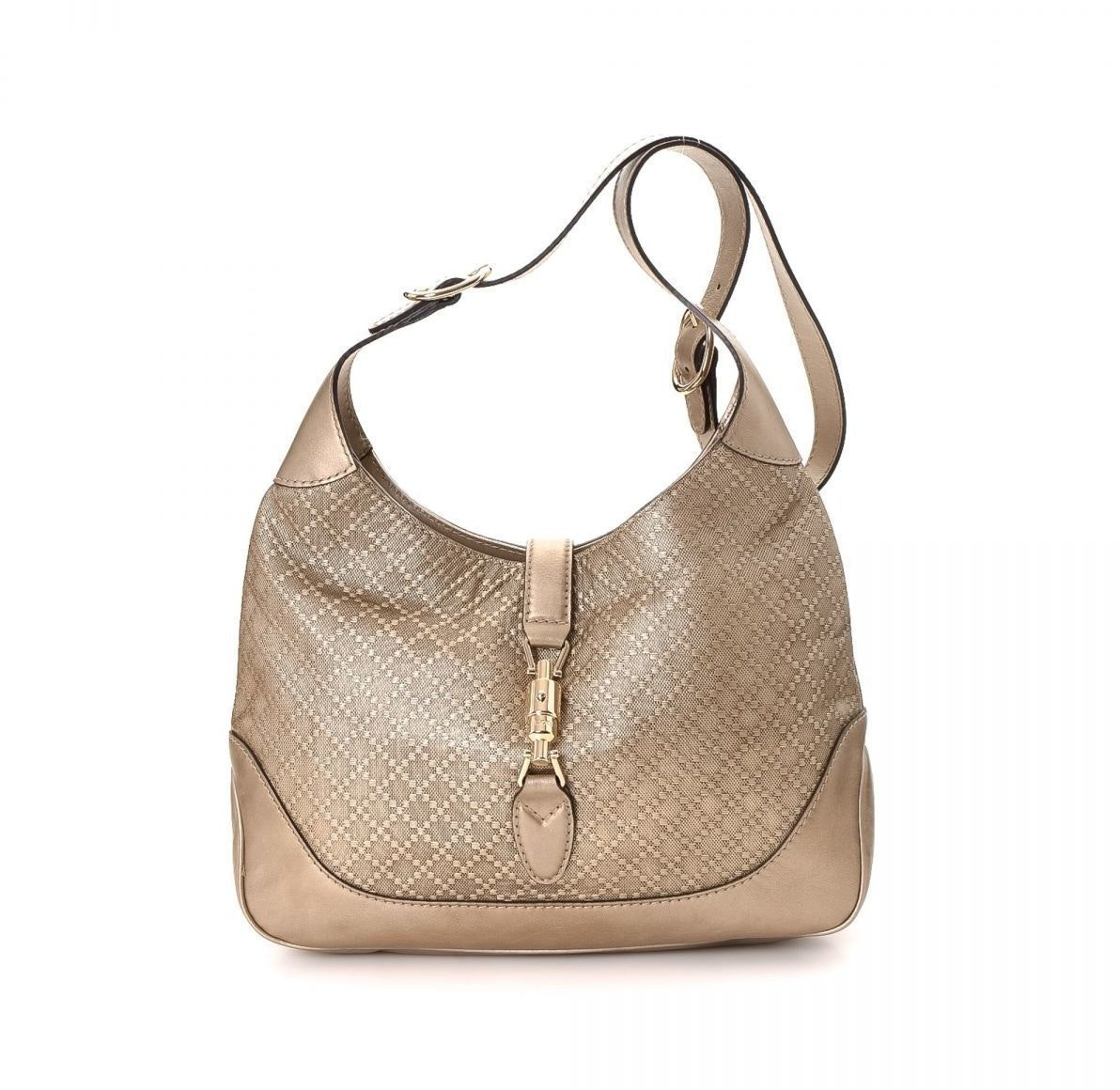 Gucci Jackie Hobo Leather Medium Gold