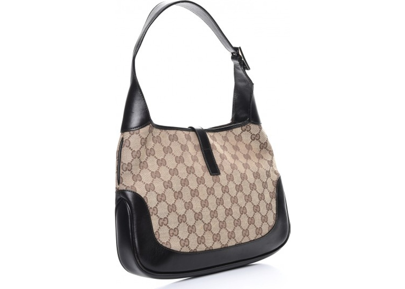6214ec75 Gucci Jackie O Hobo Monogram GG Web Dark Brown