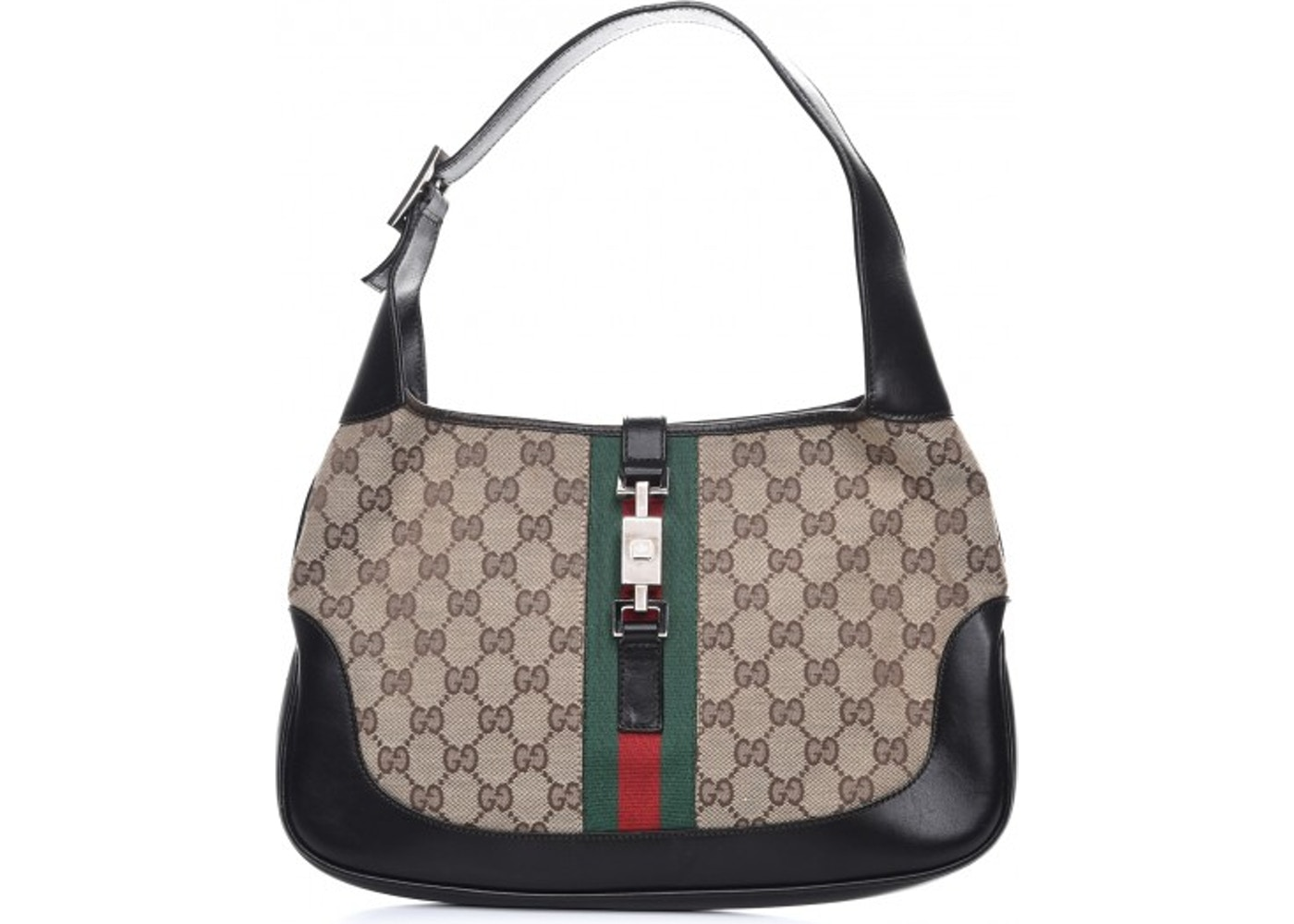 1ef0a130 Gucci Jackie O Hobo Monogram GG Web Dark Brown. Monogram GG Web Dark Brown