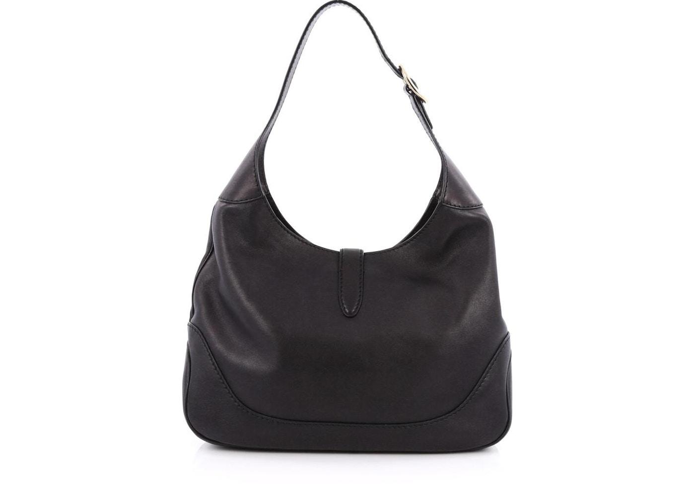 e36455a5dd2 Gucci Jackie Shoulder Bag GG Medium Black