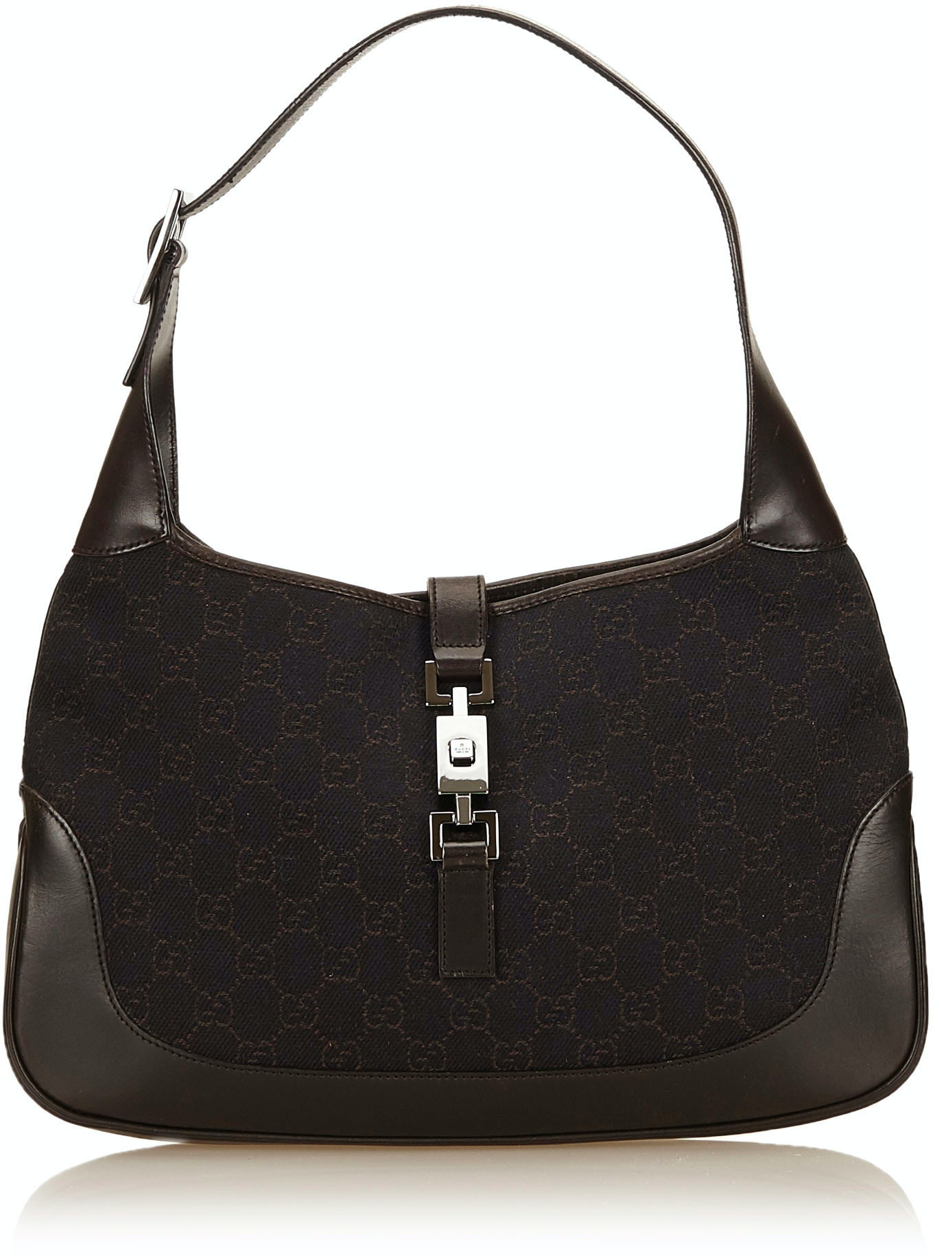 Gucci Jackie Shoulder Monogram GG Brown