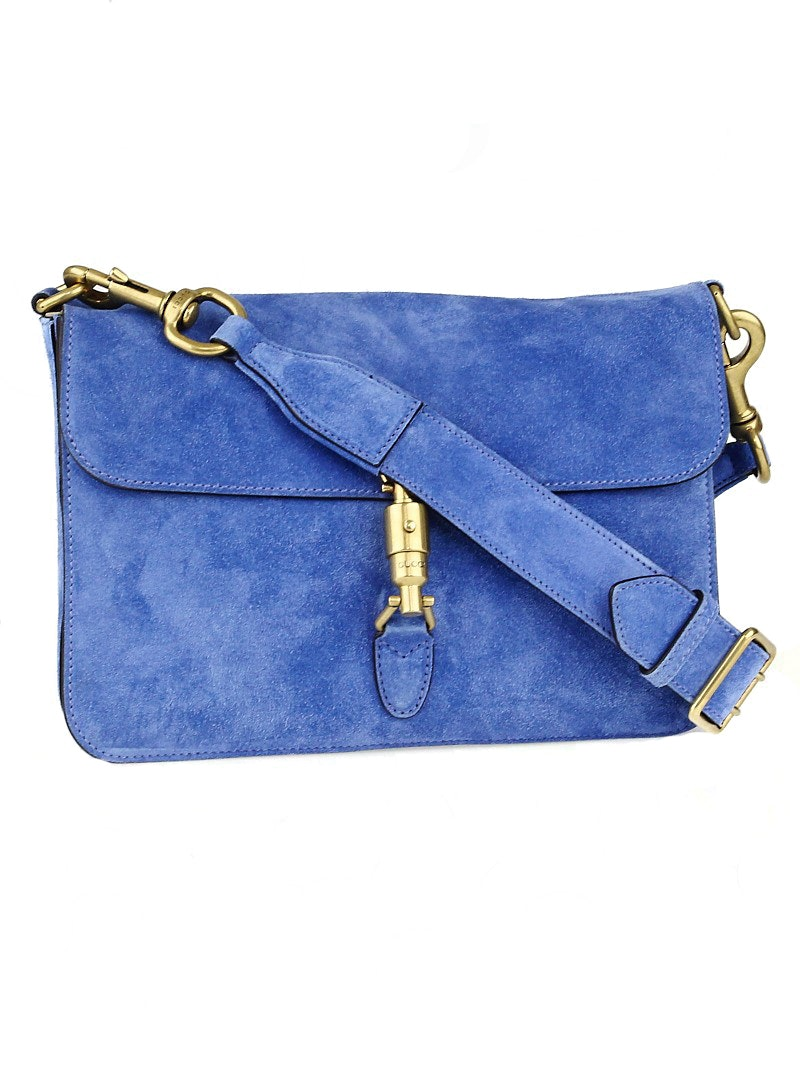Gucci Jackie Shoulder Flap Medium Cerulean Blue