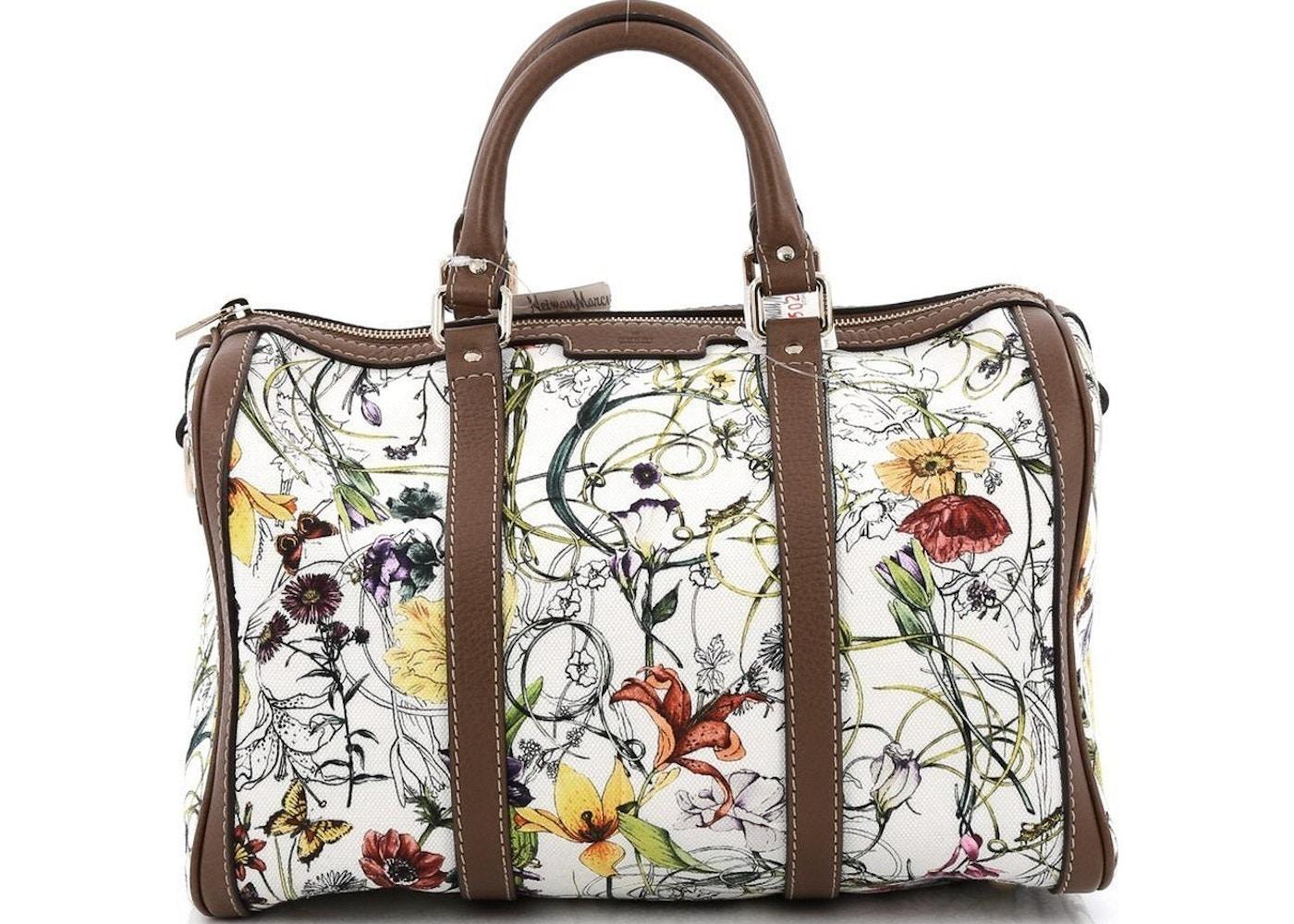37cb127d8447 Sell. or Ask. View All Bids. Gucci Joy Boston Bag Satchel Flora Medium White