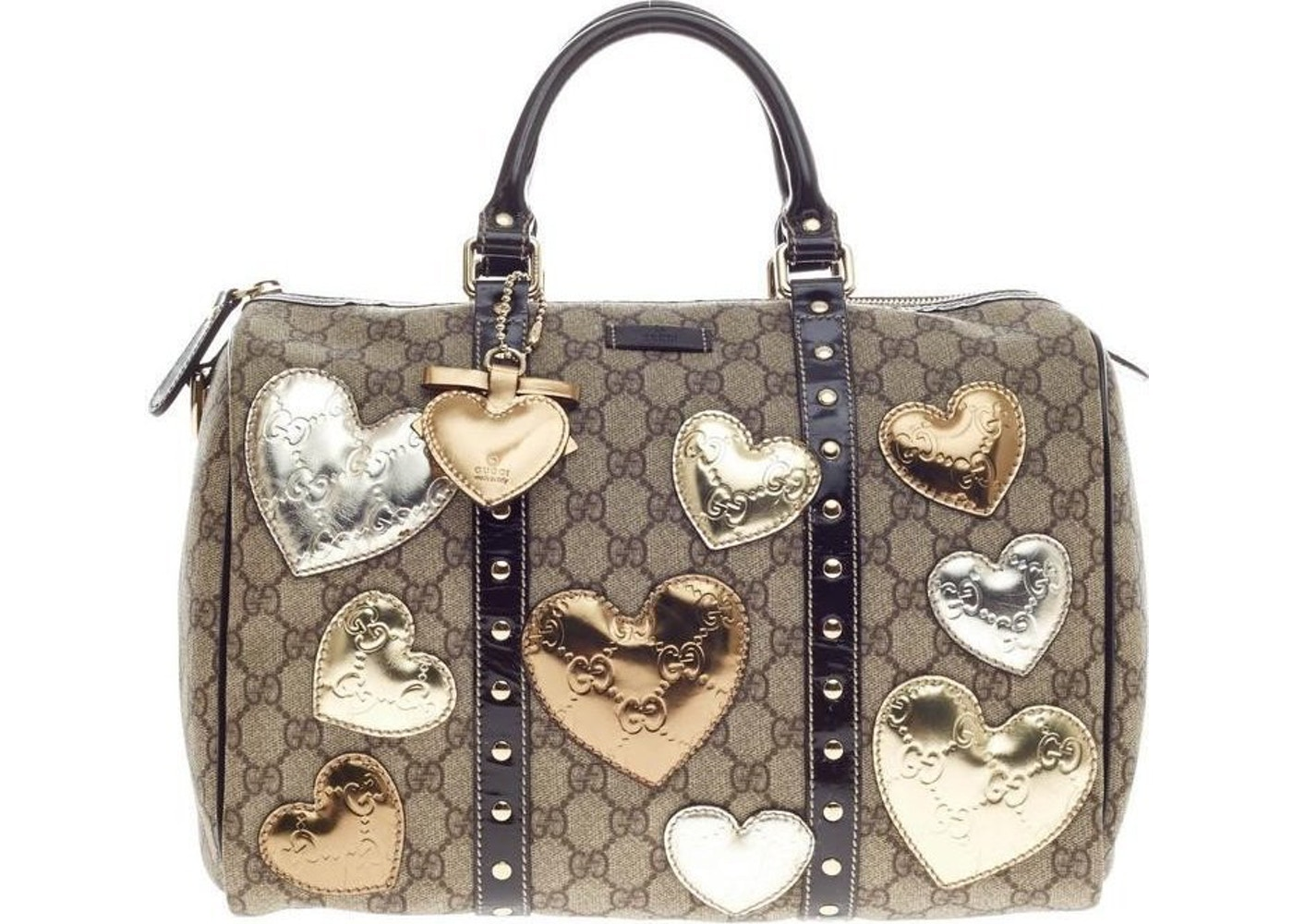 86a67ea46 Sell. or Ask. View All Bids. Gucci Joy Boston Bag Satchel GG Supreme Hearts  Medium ...