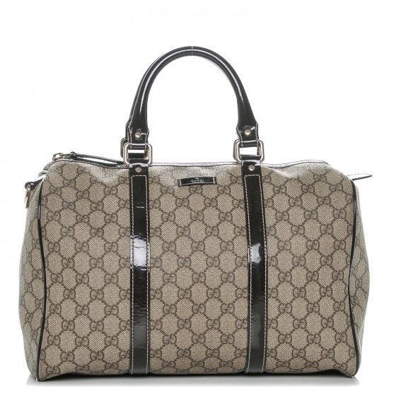 Gucci Joy Boston  Satchel Monogram GG Plus Medium