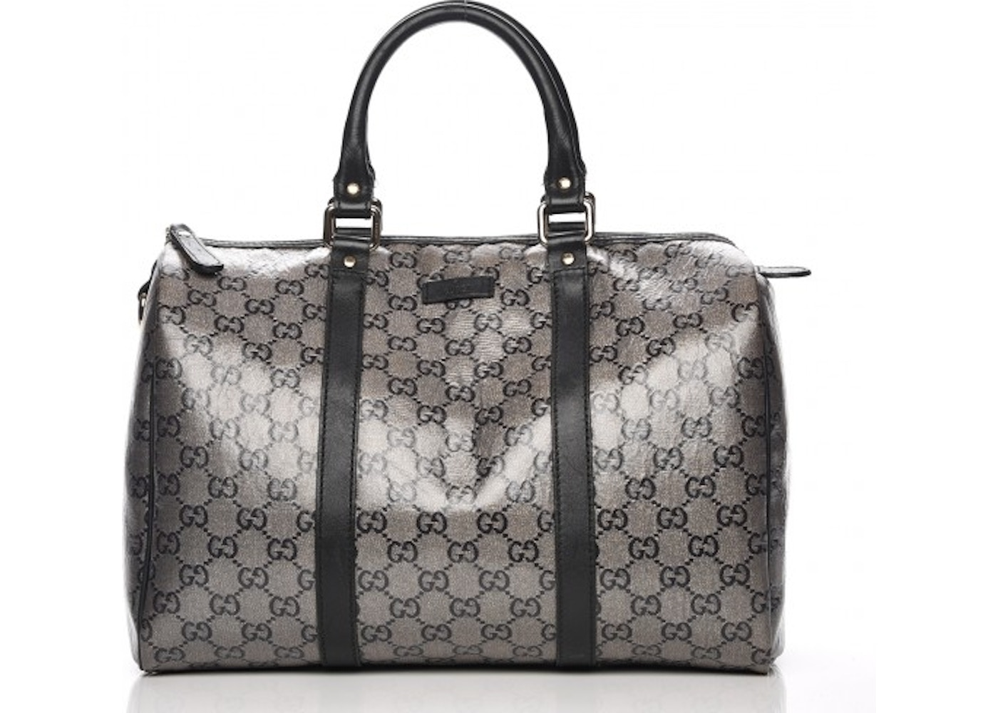 922218d90e7 Gucci Joy Boston Handbag Monogram GG Metallic Medium Black. Monogram GG  Metallic Medium Black