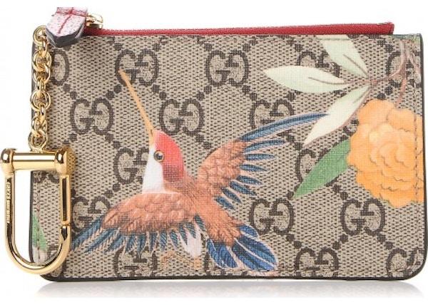 9b6798eeb3bd Gucci Key Case Monogram GG Supreme Tian Print Red