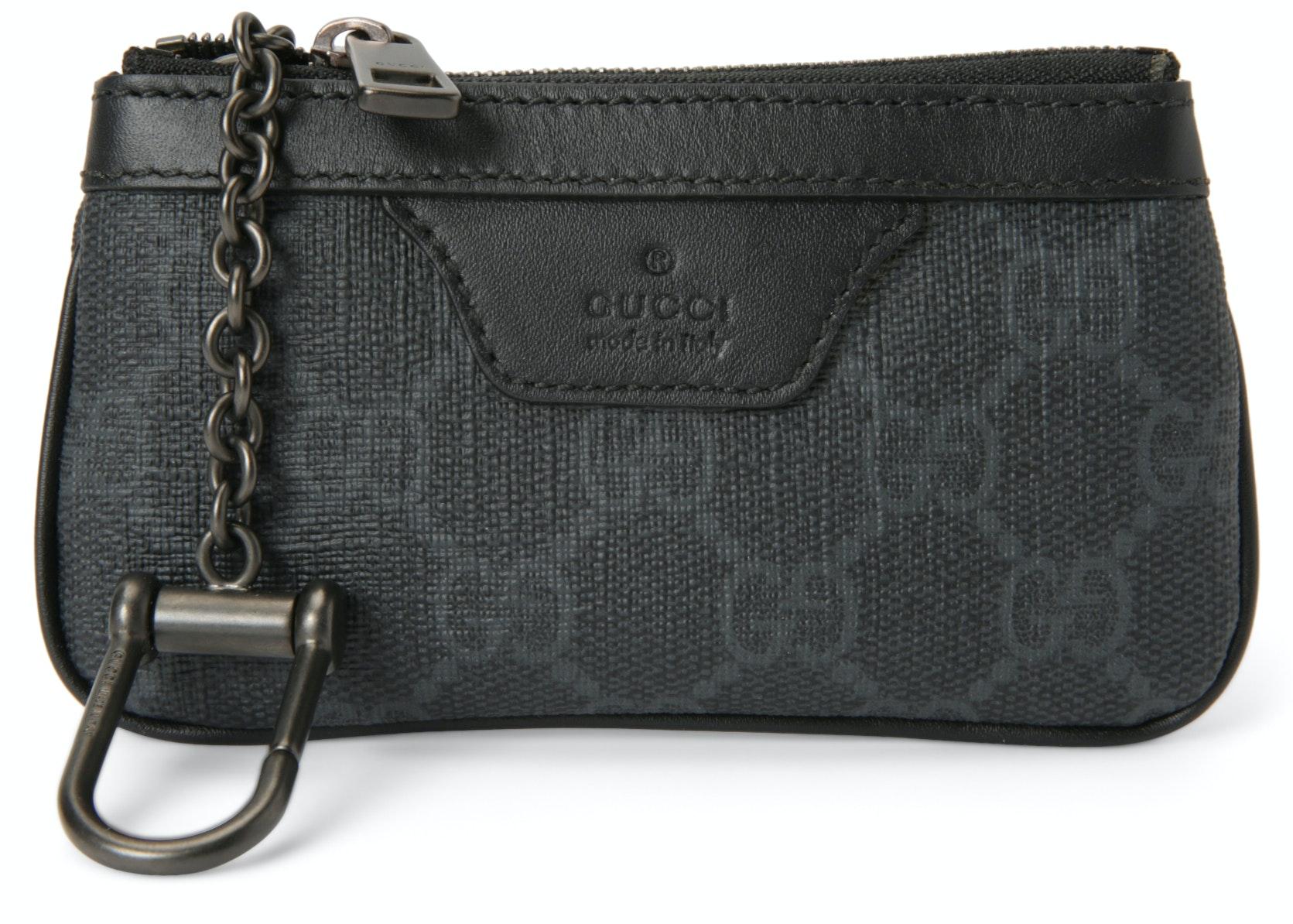 Gucci Key Pouch GG Supreme Grey/Black