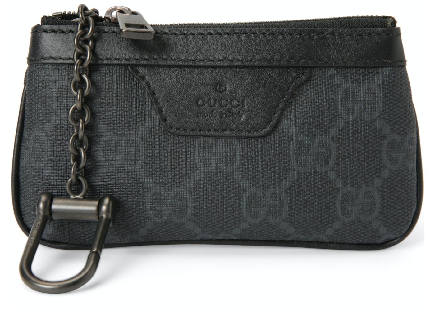 a142721be0c Gucci Key Pouch GG Supreme Grey Black. GG Supreme Grey Black