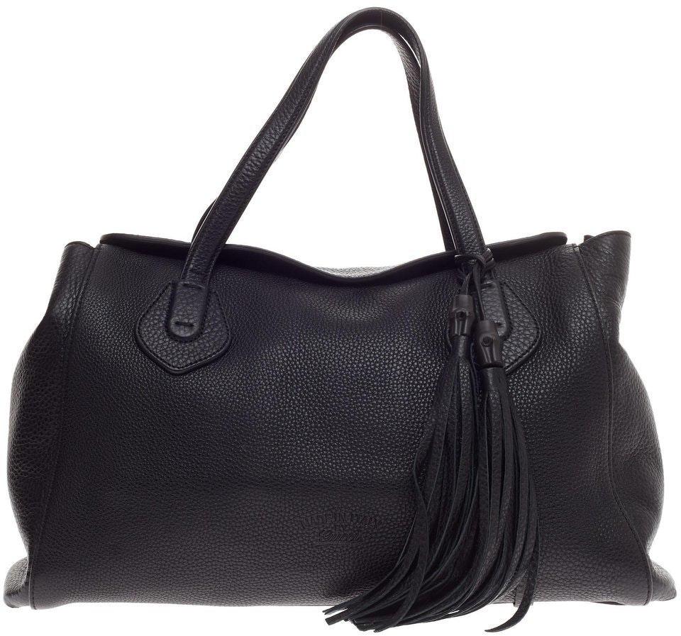 Gucci Lady Tassel Tote Large Black