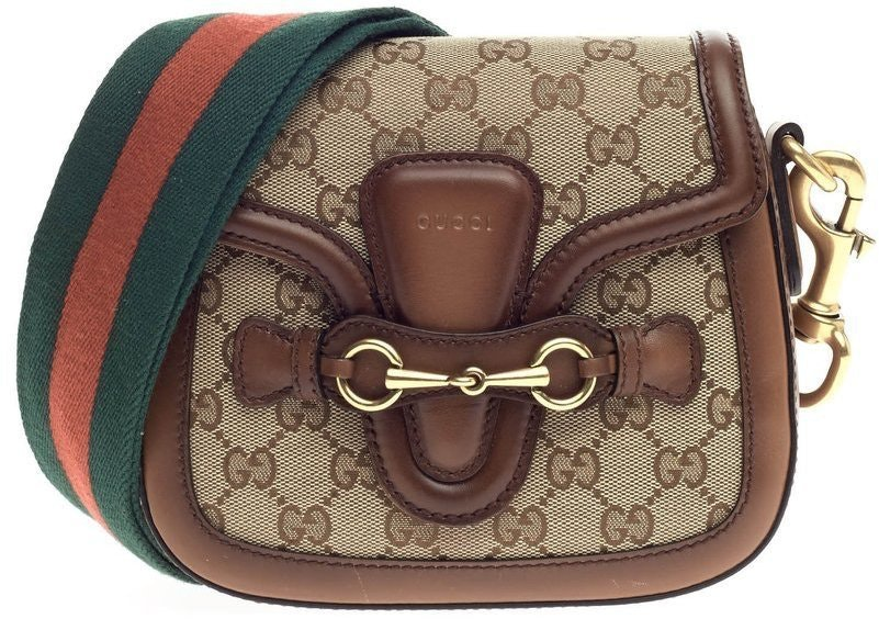 Gucci Lady Web Shoulder GG Small Brown