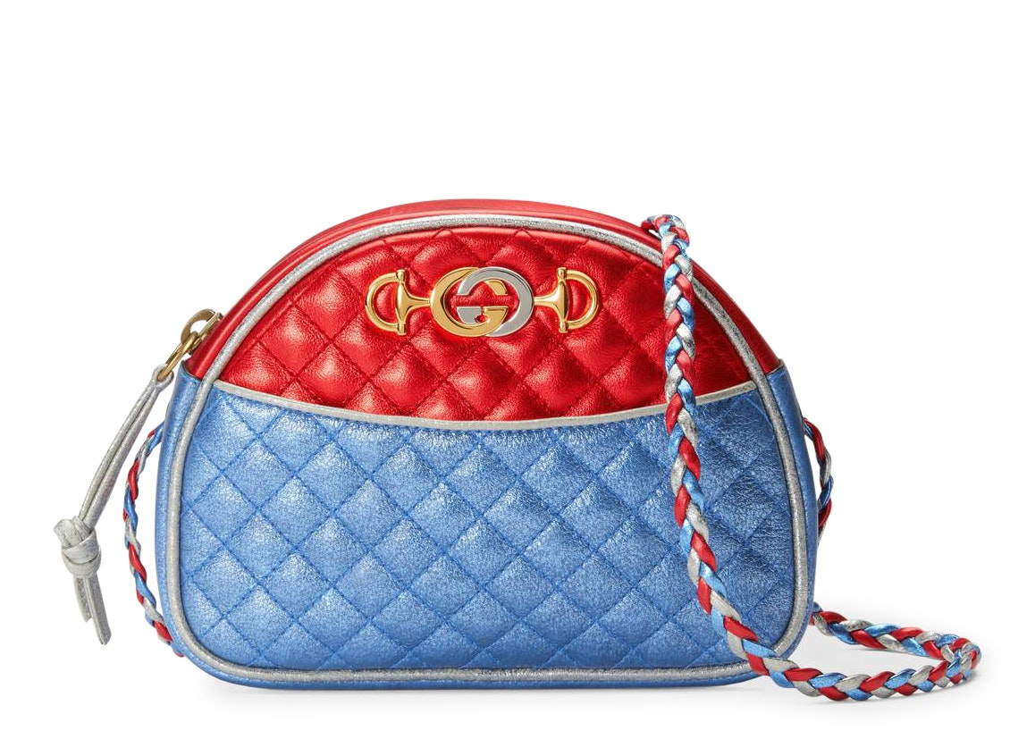 Gucci Laminated Crossbody Mini Red/Blue