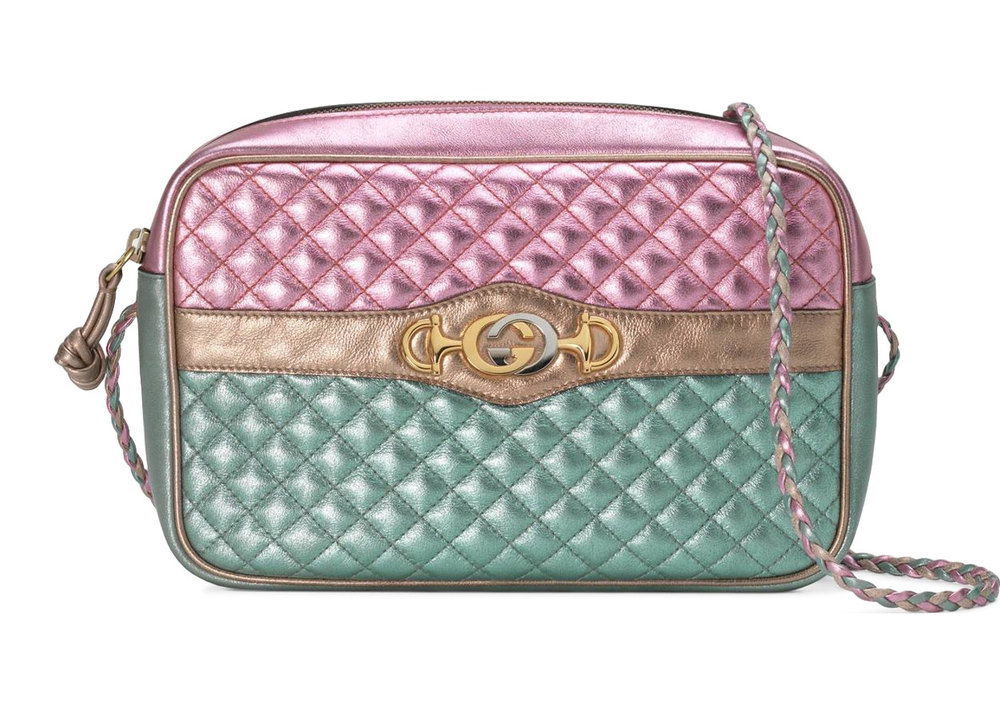cd2ecf6fd Gucci Laminated Shoulder Bag Small Pink/Blue. Small Pink/Blue