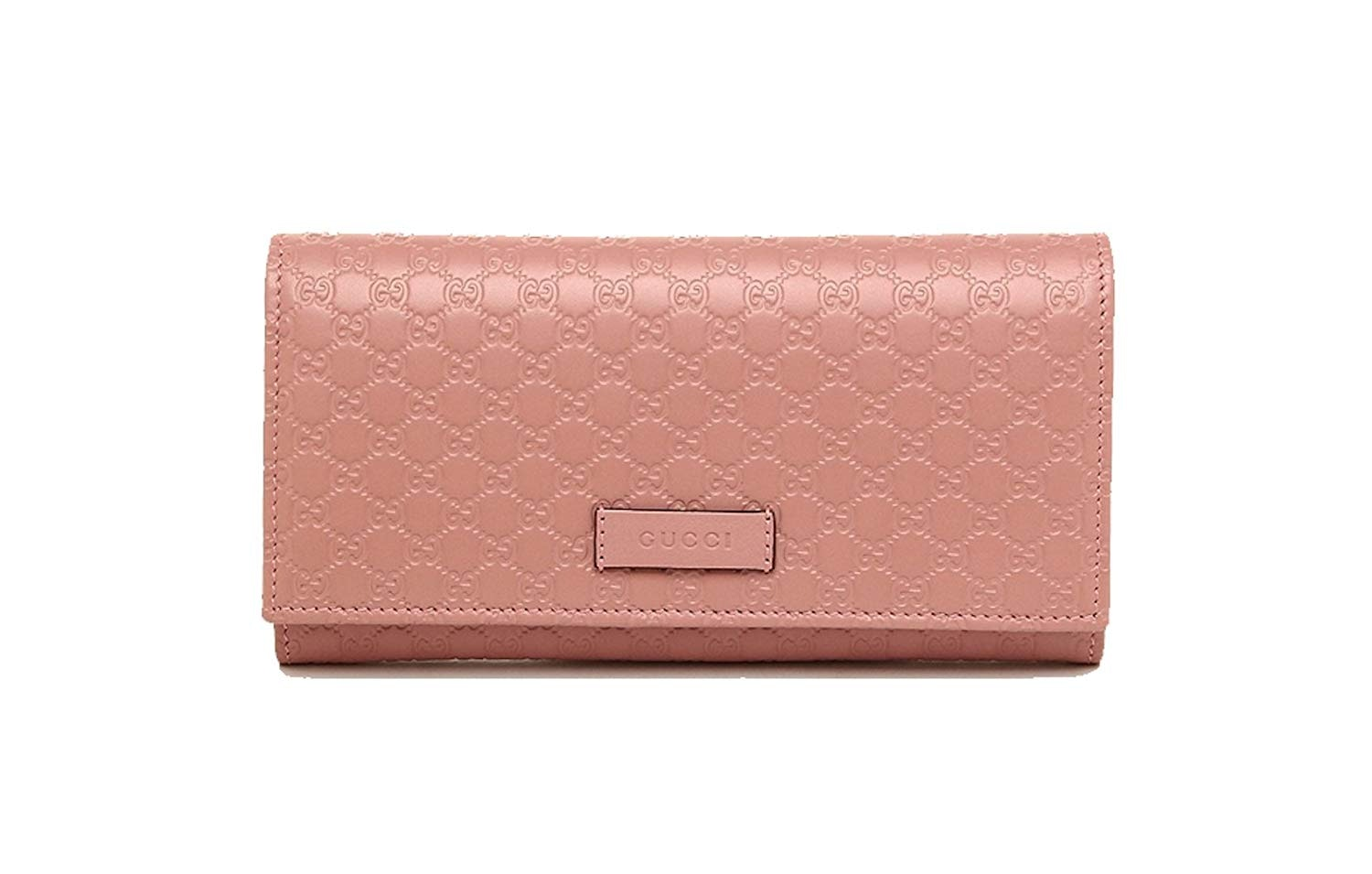 Gucci Continential Bifold Wallet Microguccissima Soft Pink