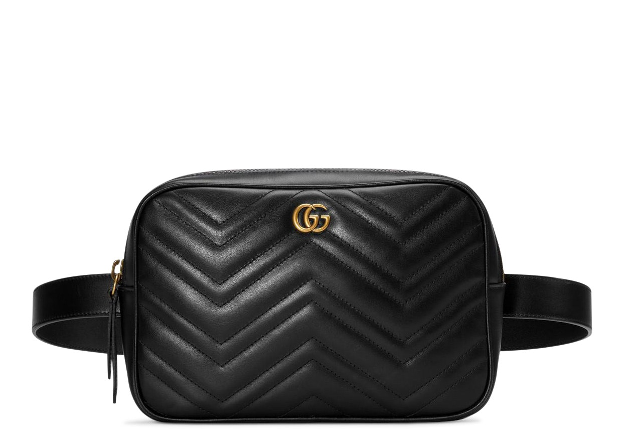 Gucci Marmont Belt Bag Matelasse Black