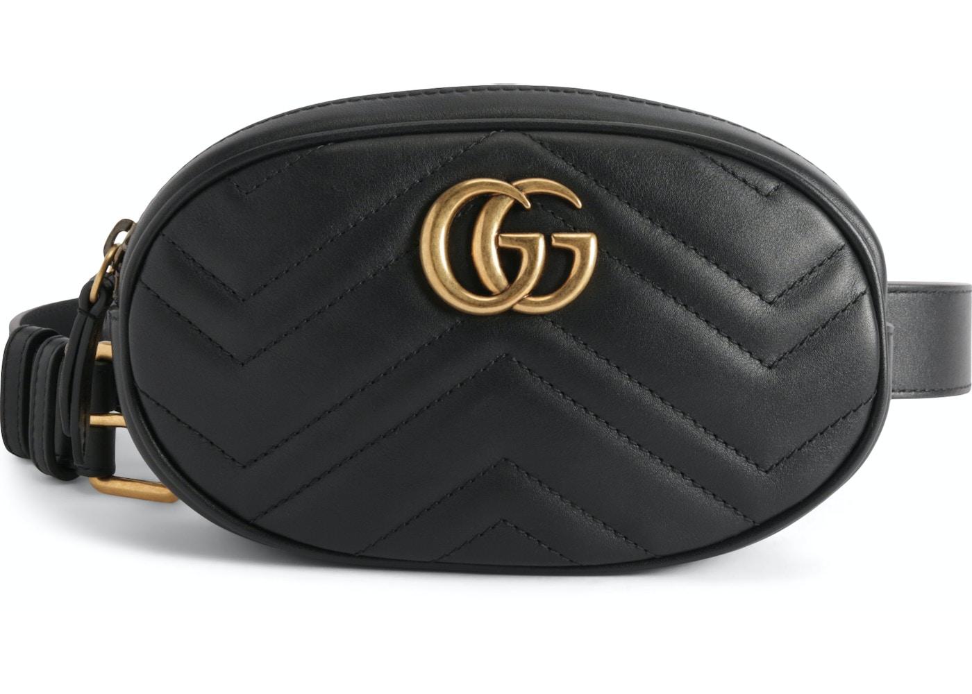 4ef2734fe Gucci GG Marmont Belt Bag Matelasse Black. Matelasse Black