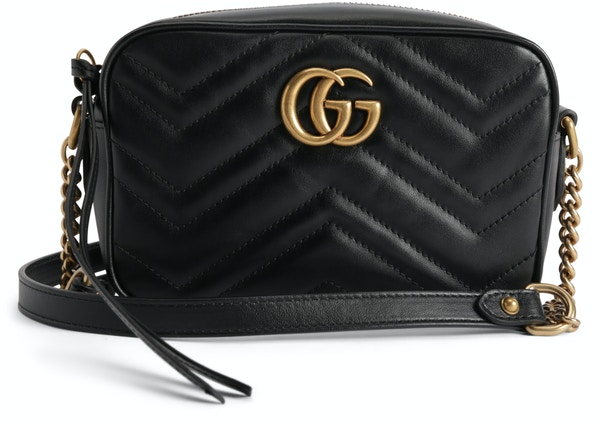 f2c886b0a55 Gucci Marmont Camera Bag Matelasse Mini Black