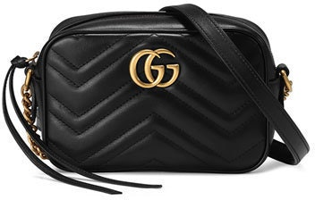 Gucci Marmont Camera Bag Matelasse Mini Black