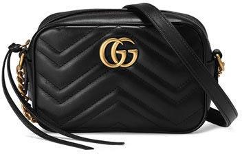 Gucci Marmont Camera Bag Matelasse Mini Black