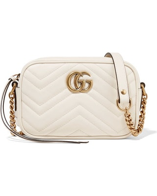 Gucci Marmont Camera Bag Matelasse Mini Cream