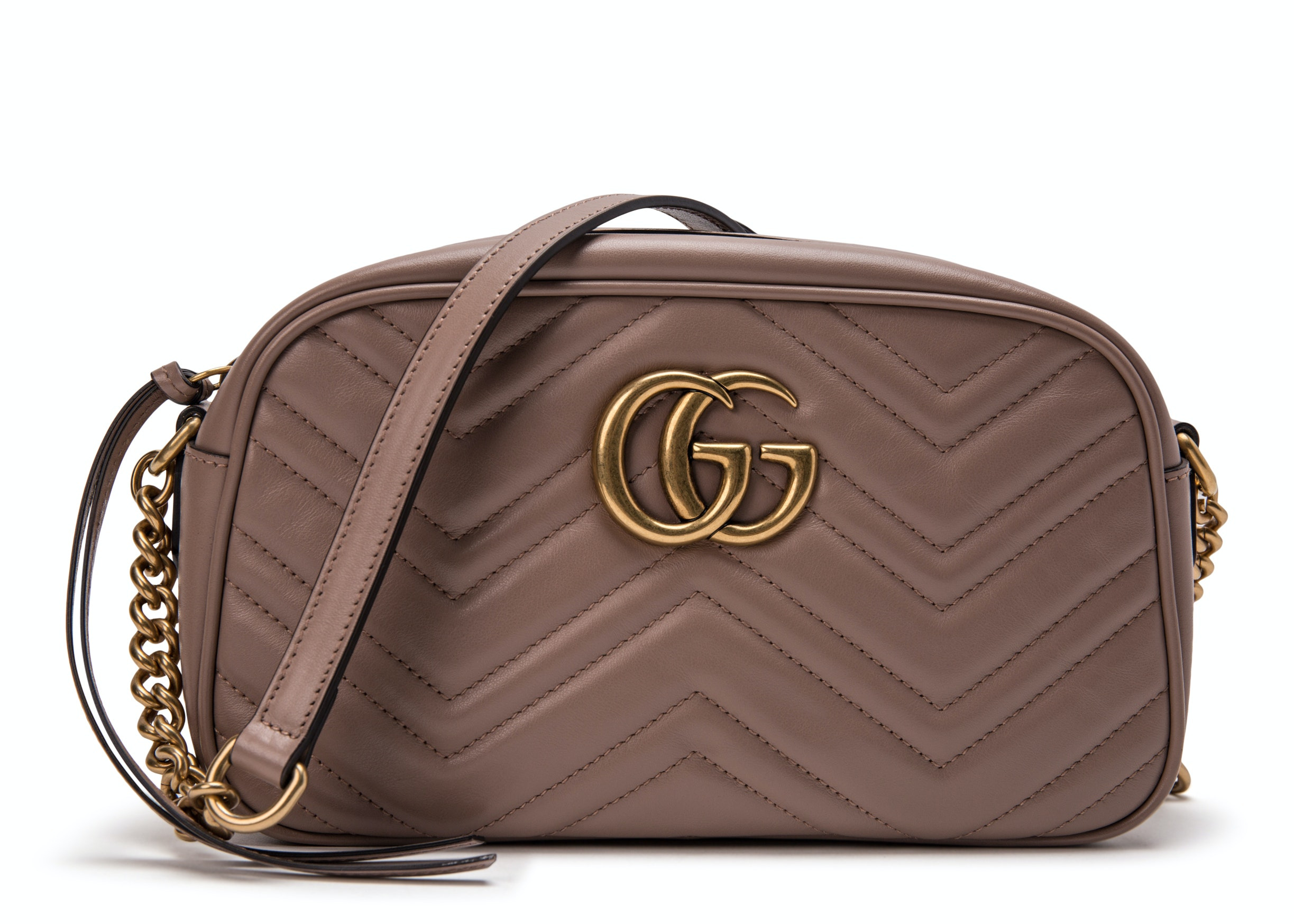 Gucci Marmont Camera Bag Matelasse Mini Dusty Pink