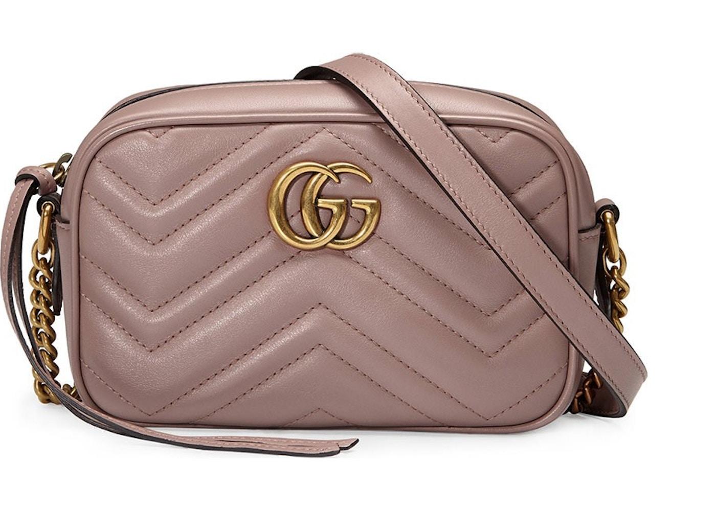 9d1f387cf0e5a Gucci Marmont Camera Bag Matelasse Mini Dusty Pink. Matelasse Mini Dusty  Pink