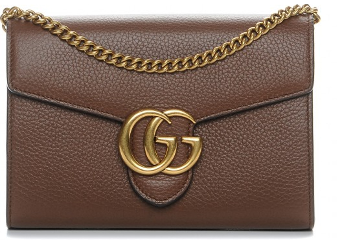 4d23c870b35 Gucci Chain Wallet Marmont GG Nut Brown. GG Nut Brown