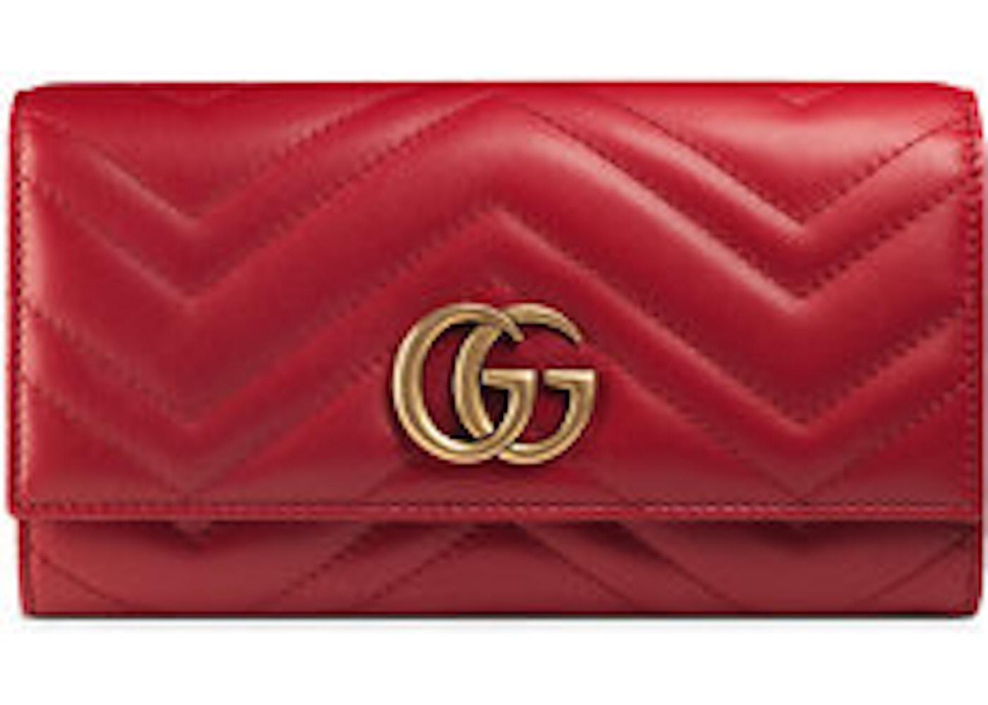 d471933f0df7 Gucci Continental Wallet Marmont Matelasse GG Hibiscus Red. Matelasse GG  Hibiscus Red
