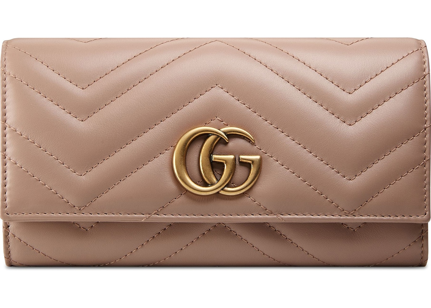 59985174413822 Gucci Continental Wallet Marmont Matelasse GG Neutral. Matelasse GG Neutral