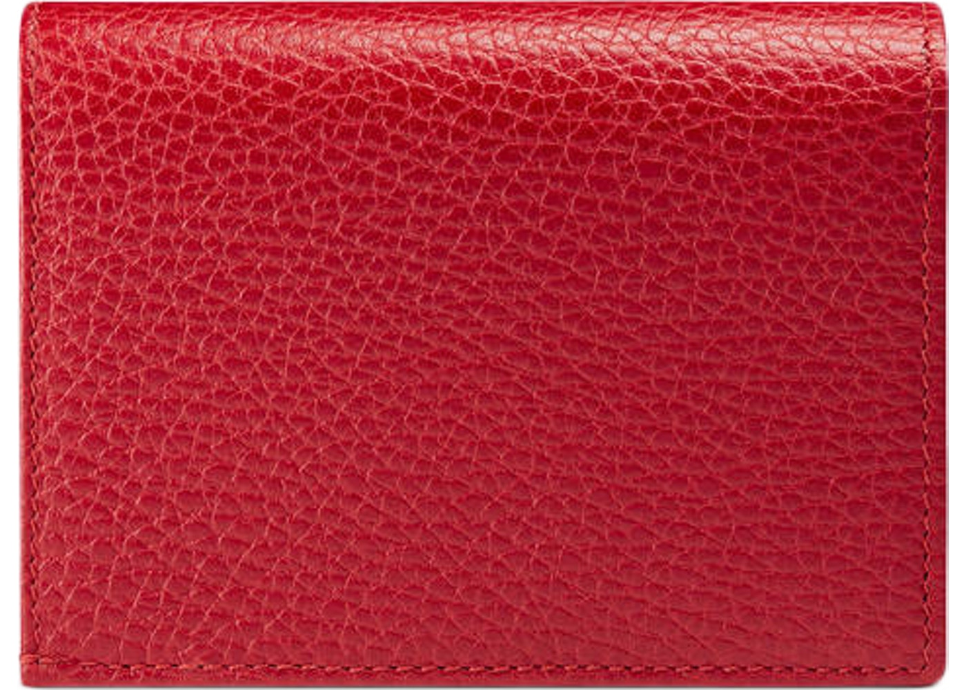timeless design d94ad a180e Gucci Marmont Flap Card Case Zipped Compartment Hibiscus Red