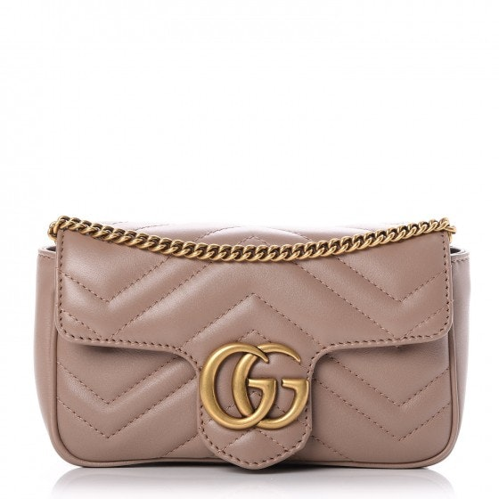 Gucci Marmont Flap Matelasse GG Super Mini Dusty Pink