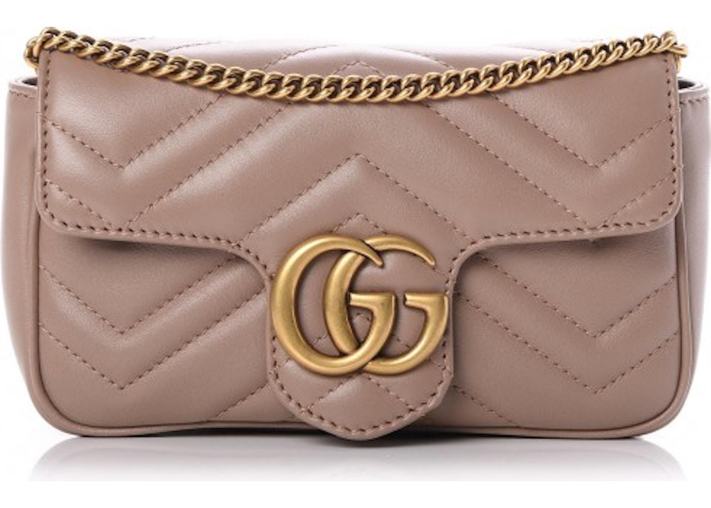 d050d858b046 Gucci Marmont Flap Matelasse GG Super Mini Dusty Pink