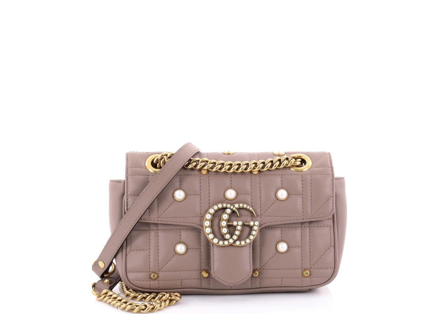 755eb442417c Gucci Flap Marmont Matelasse Pearly Mini Dusty Pink. Matelasse Pearly Mini  Dusty Pink