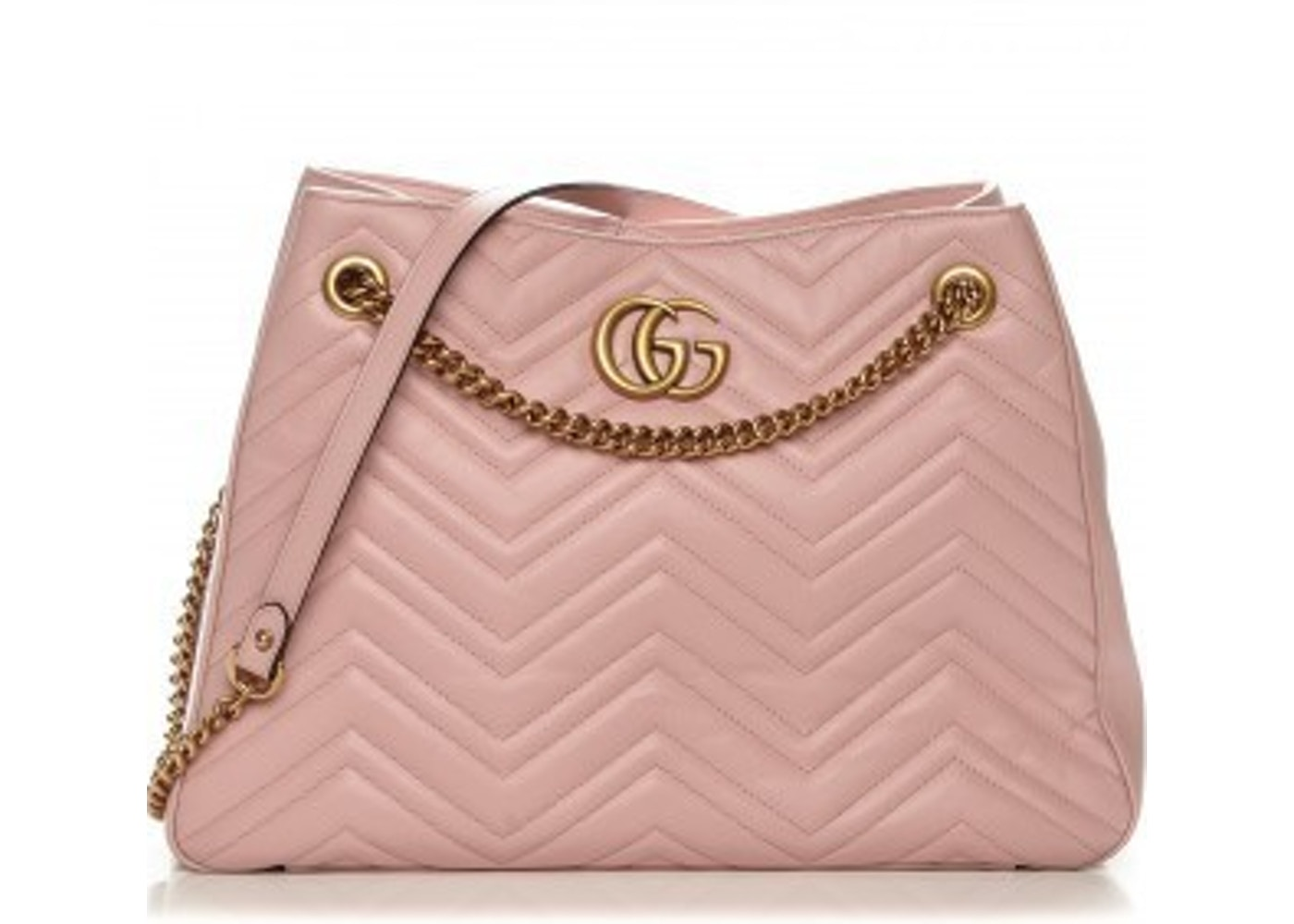 2868afe9c14427 Gucci Marmont Matelasse Shoulder Bag GG Interlocking Medium Light Pink. GG  Interlocking Medium Light Pink