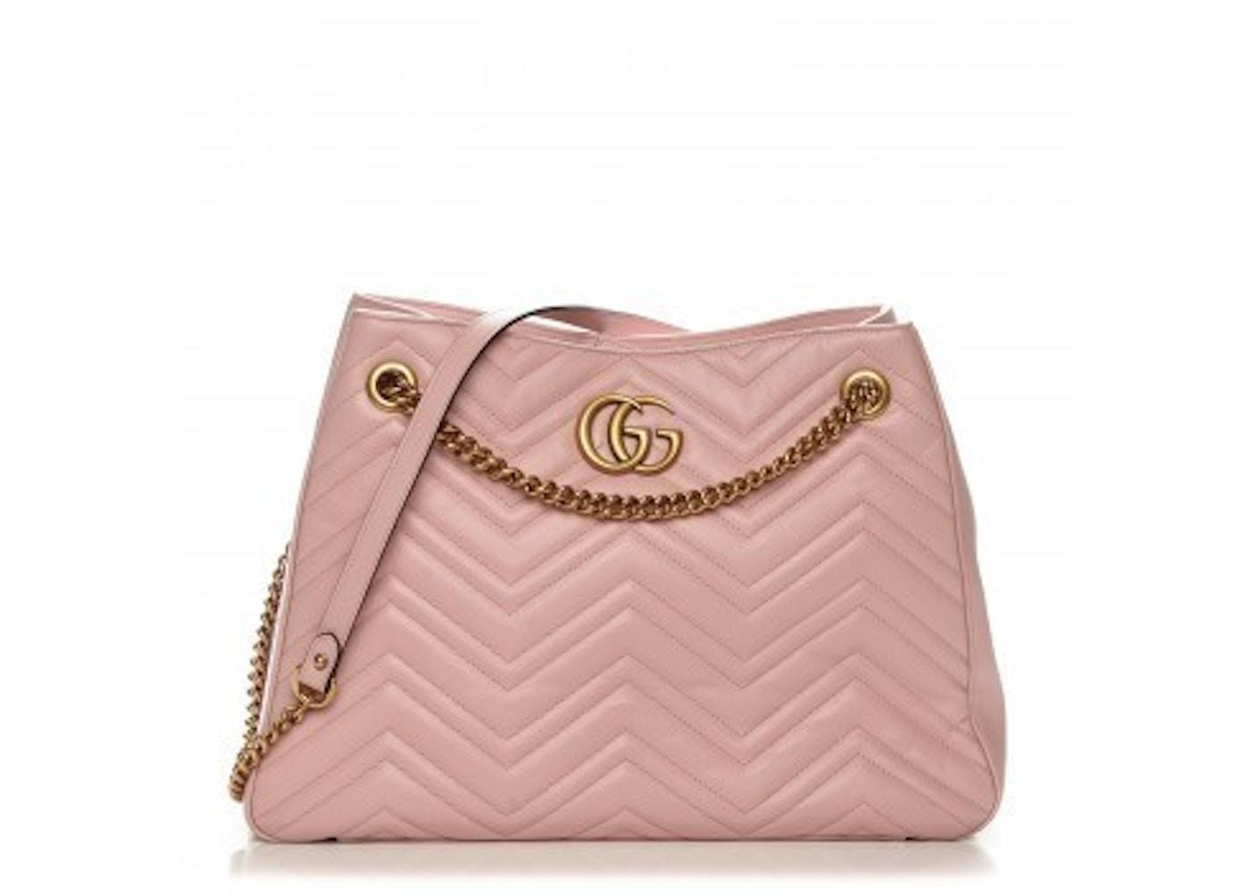 Gucci Gg Marmont Shoulder Bag Matelasse Medium Light Pink