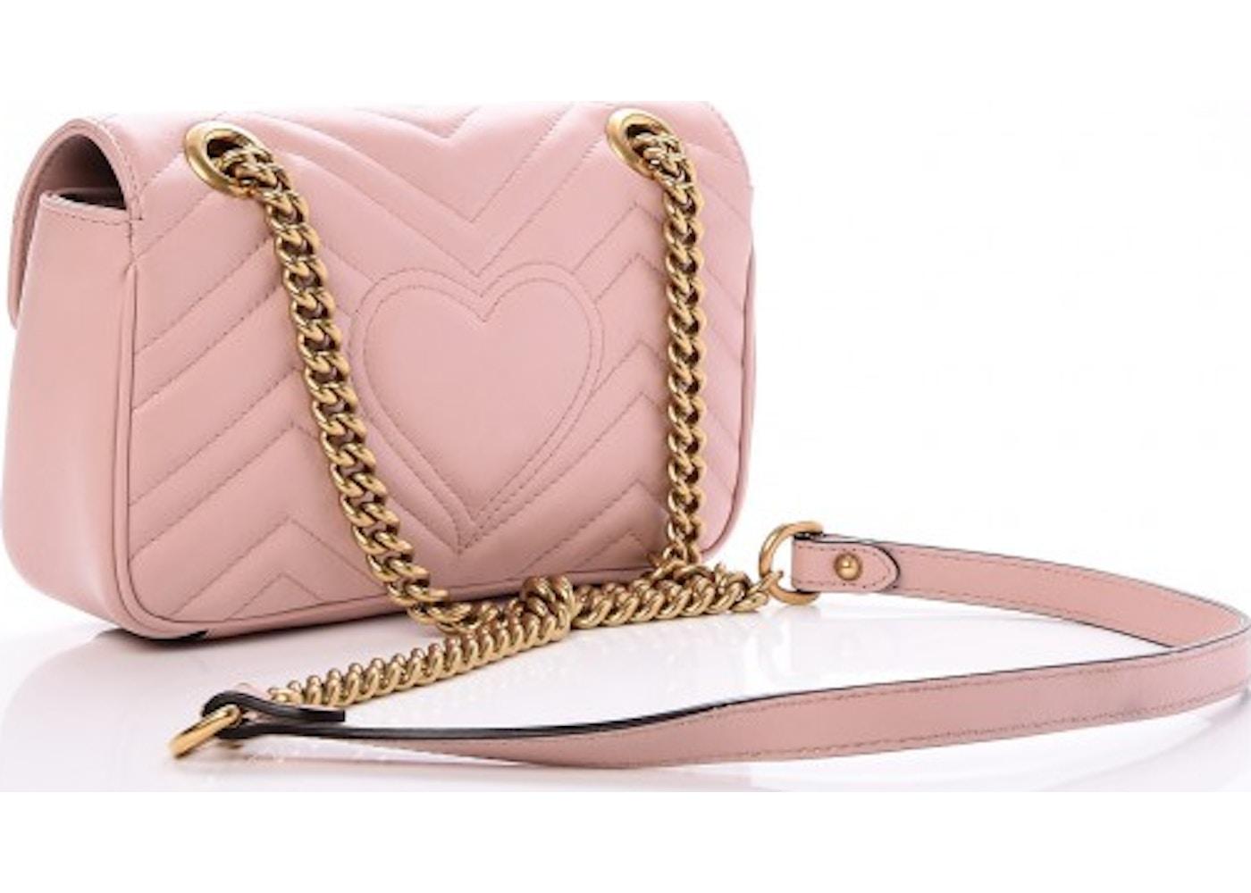 cb75ef1cfba Gucci Marmont Matelasse GG Mini Light Pink