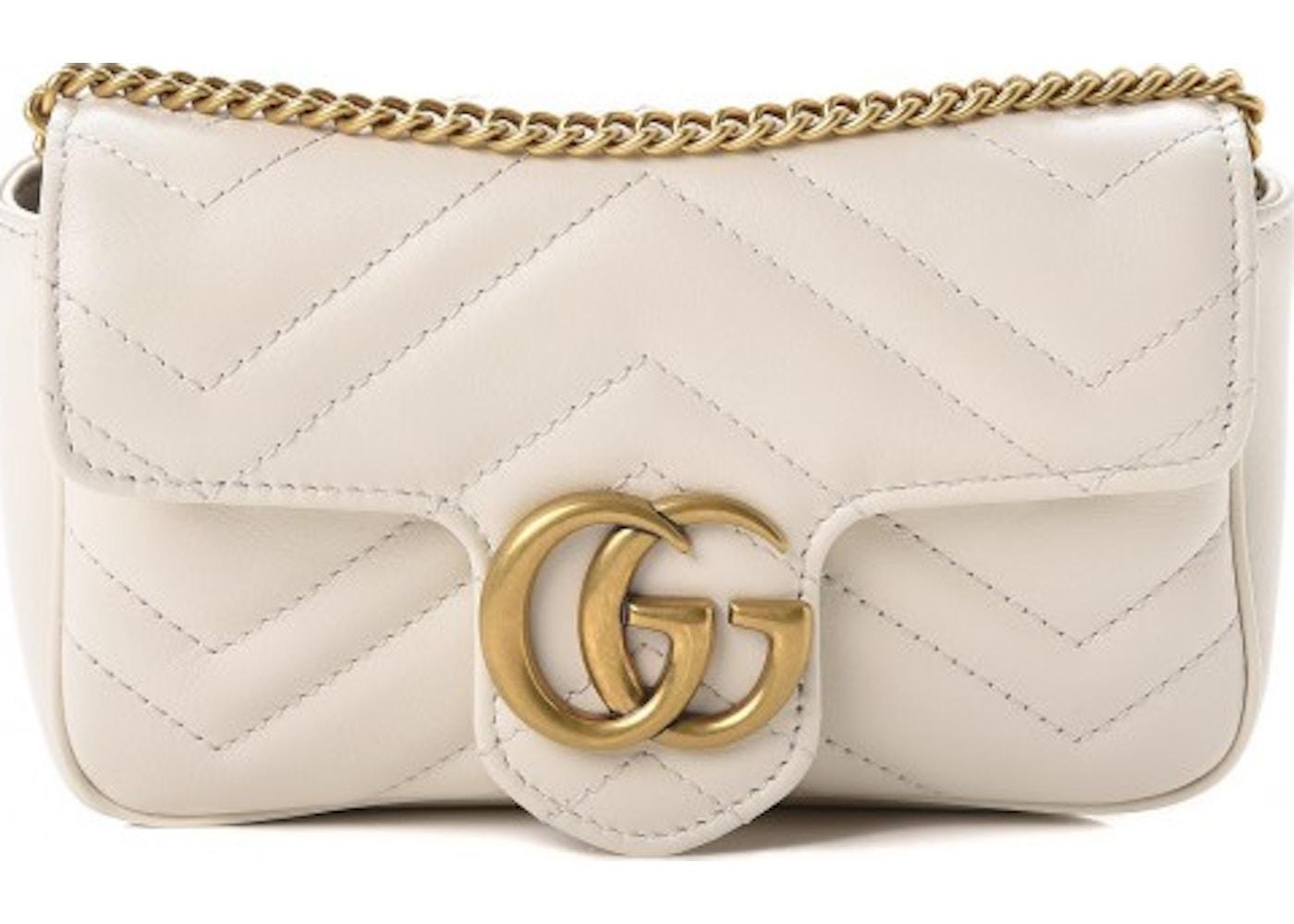 19ce5c79c50d Gucci Marmont Matelasse GG Super Mini White