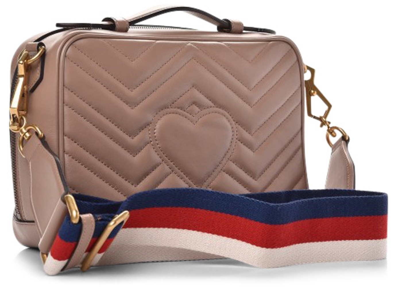 Gucci GG Marmont Mini Matelassé Nude Shoulder Bag 443496
