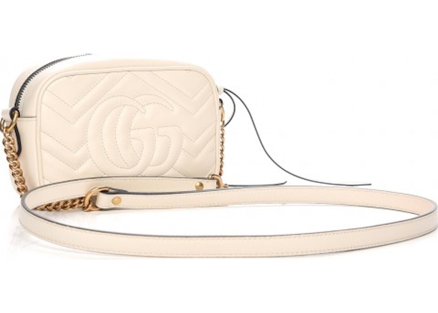 21ce65e24 Gucci Marmont Crossbody Matelasse Mini White
