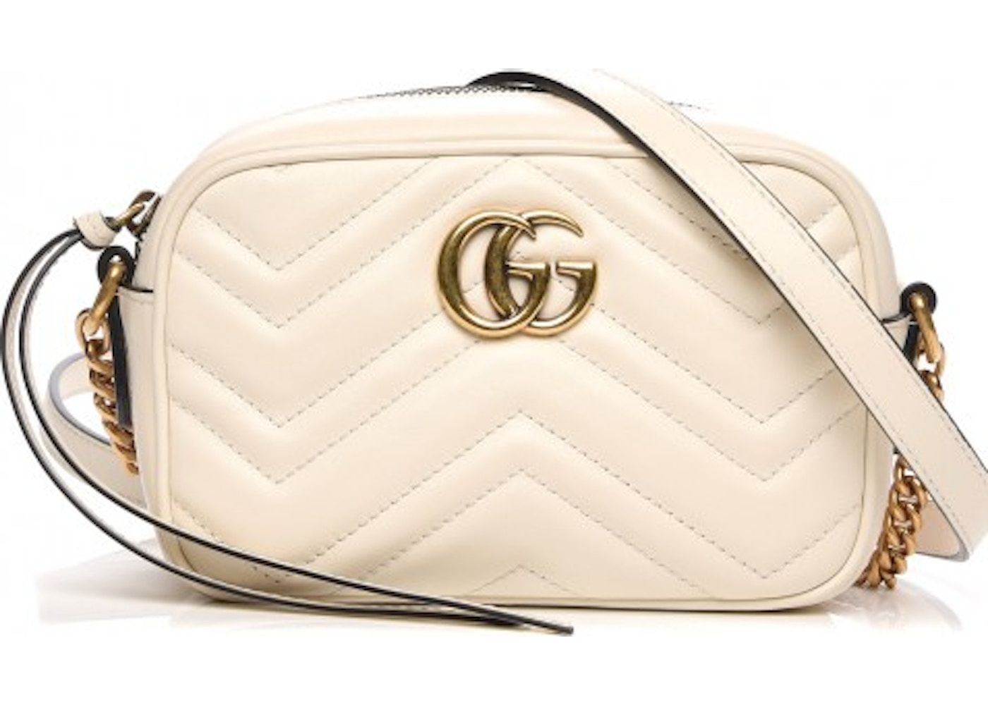 2d16eb432c56 Gucci Marmont Crossbody Matelasse Mini White. Matelasse Mini White